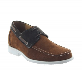 Bardolino Elevator Shoes Brown +2.4""