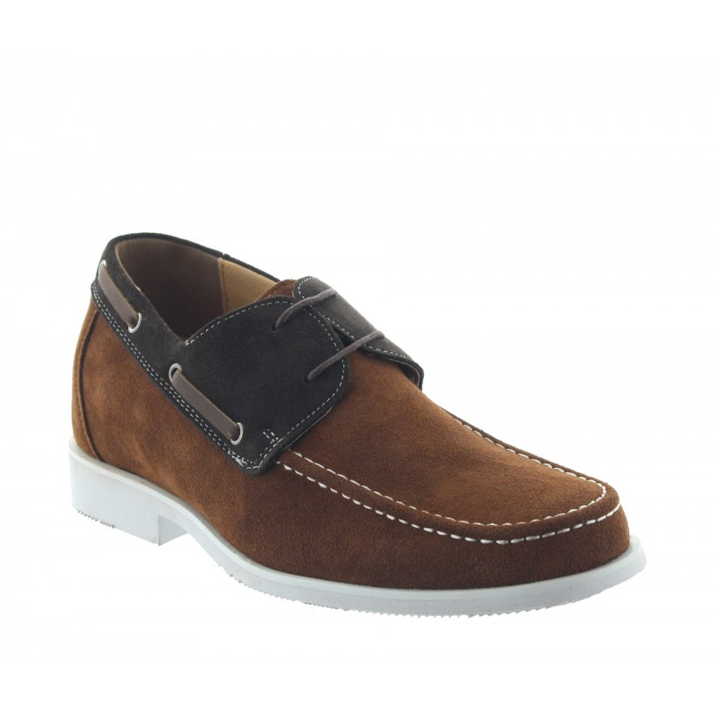 Height increasing loafers Men - Brown - Nubuk - +2.4'' / +6 CM - Bardolino - Mario Bertulli