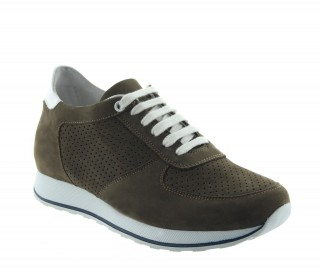 CAMAIORE HEIGHT INCREASING SNEAKER BROWN +2.8""