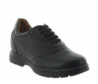 Osimo men's elevator black shoes +3.6''