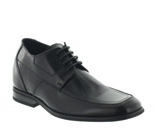 Height Increasing Derby Shoes Men - Black - Leather - +2.4'' / +6 CM - Brighton - Mario Bertulli