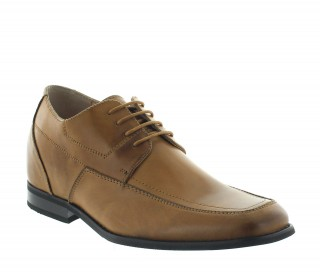 Brighton Brown Leather Height Increasing Shoes +6cm.