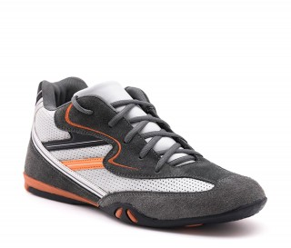 Height Increasing Sports Shoes Men - Dark gray - Nubuk / Leather - +2.6'' / +6,5 CM - Loreto  - Mario Bertulli