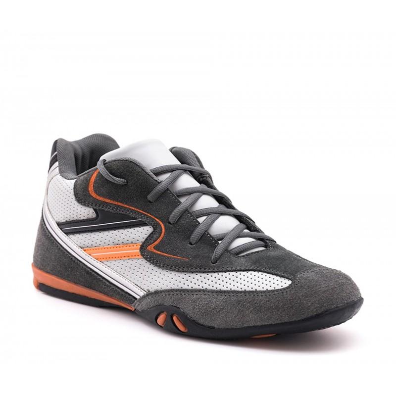 Height Increasing Sports Shoes Men - Dark gray - Nubuk / Leather - +2.6'' / +6,5 CM - Loreto  - Mario Bertulli