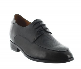 Urbino black elevator shoes for men +3.2''