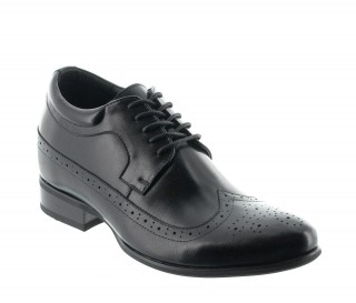 Height Increasing Derby Shoes Men - Black - Leather - +2.8'' / +7 CM - Sestri - Mario Bertulli