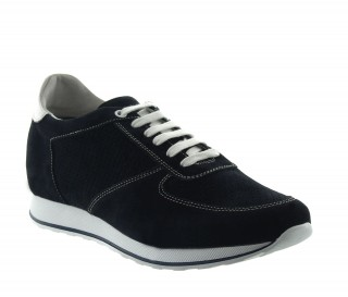 CAMAIORE HEIGHT INCREASING SNEAKER BLACK +2.8""