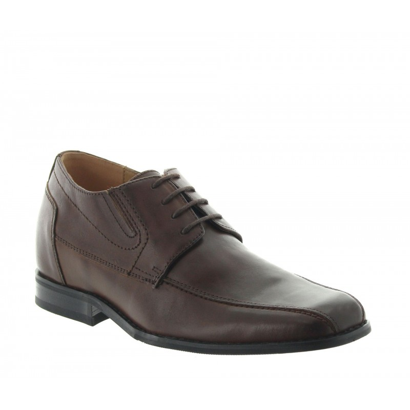 Sepino height increasing shoes in brown +2.4""