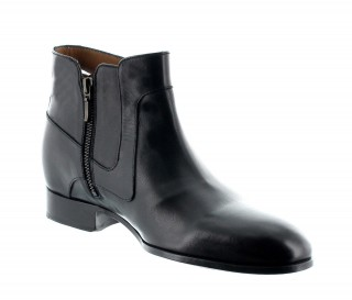 Height Increasing Boots Men - Black - Full grain calf leather - +2.4'' / +6 CM - Velletri - Mario Bertulli