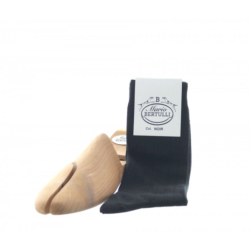 Black cotton stretch socks - Cotton Socks from Mario Bertulli - specialist in height increasing shoes