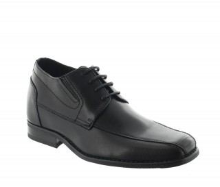 Height Increasing Derby Shoes Men - Black - Leather - +2.4'' / +6 CM - Sepino - Mario Bertulli