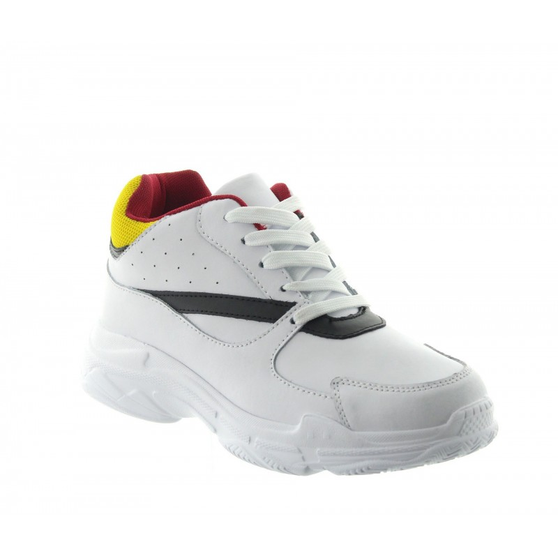Height Increasing Sports Shoes Men - White - Leather - +2.8'' / +7 CM - Monticiano - Mario Bertulli