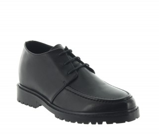 Height Increasing Derby Shoes Men - Black - Leather - +2.8'' / +7 CM - Montieri - Mario Bertulli