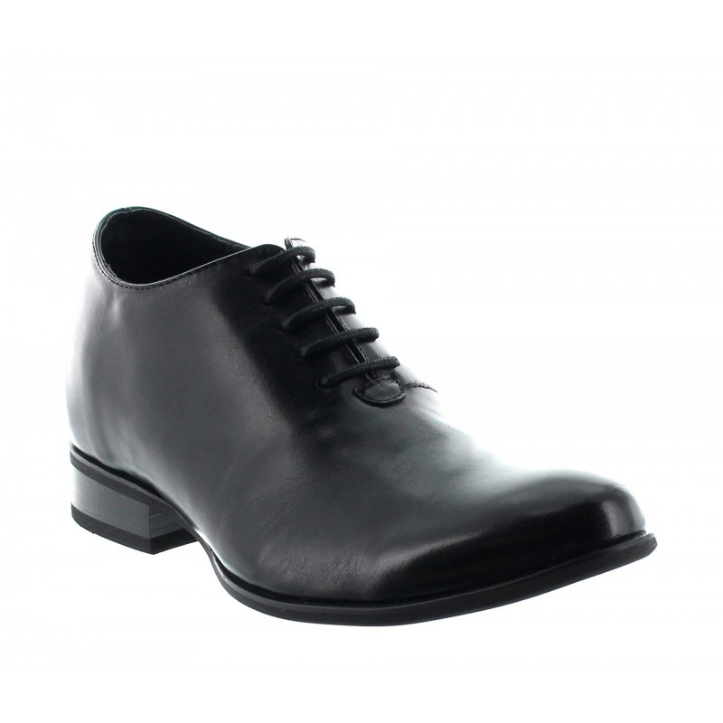 Height Increasing Oxfords Men - Black - Leather - +2.8'' / +7 CM - Umbria - Mario Bertulli