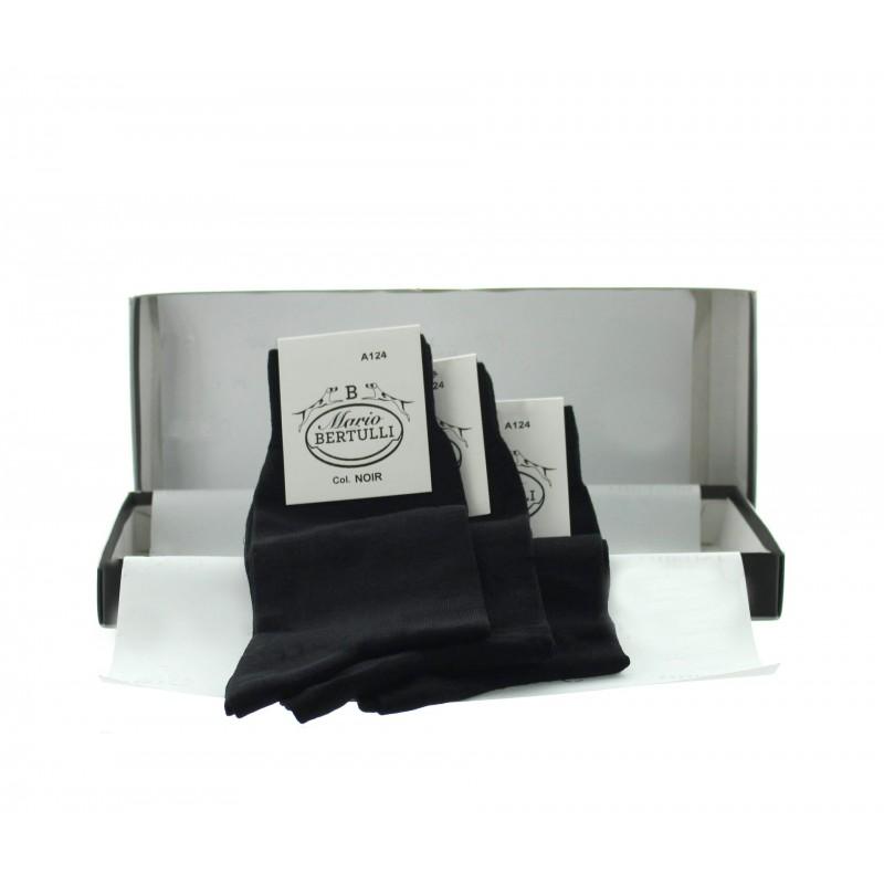 3 pairs black socks box - Luxury Packs of Socks from Mario Bertulli - specialist in height increasing shoes