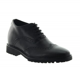 Height Increasing Derby Shoes Men - Black - Leather - +2.8'' / +7 CM - Casetta - Mario Bertulli