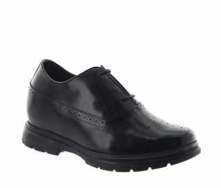 Height Increasing Derby Shoes Men - Black - Leather - +3.4'' / +8,5 CM - Mugello - Mario Bertulli