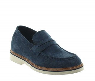 Stresa Elevator Loafer Shoes Blue +2.8''