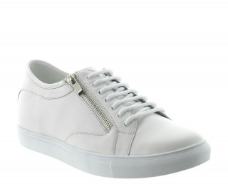 Height Increasing Sneakers Men - White - Leather - +2.4'' / +6 CM - Albori - Mario Bertulli