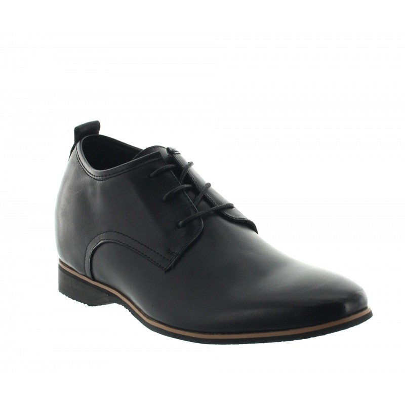 Height Increasing Derby Shoes Men - Black - Leather - +2.2'' / +5,5 CM - Spotorno - Mario Bertulli