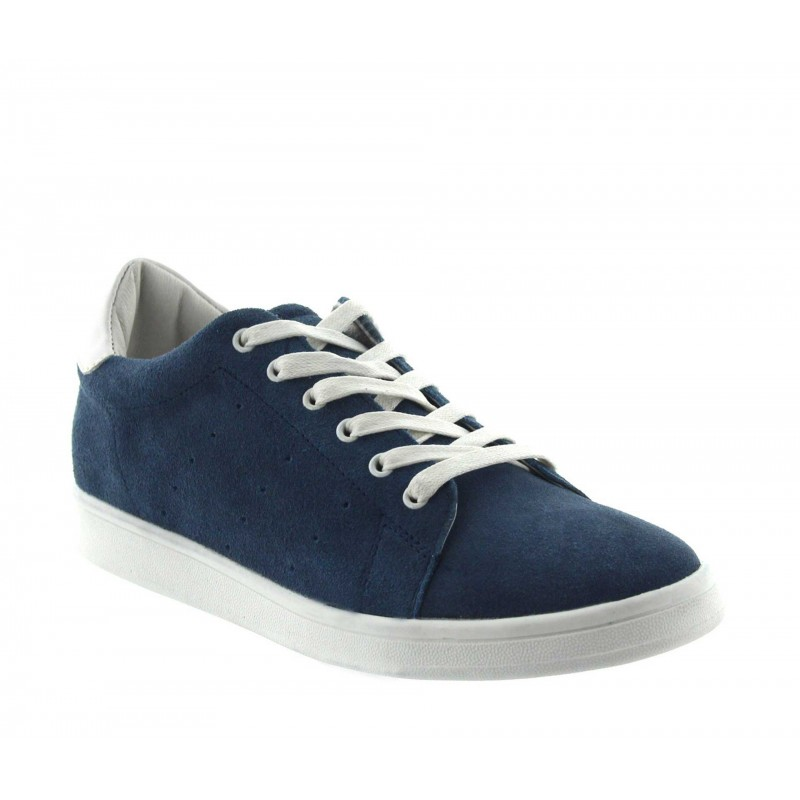 Height Increasing Sneakers Men - Blue - Nubuk - +2.2'' / +5,5 CM - Ariano - Mario Bertulli