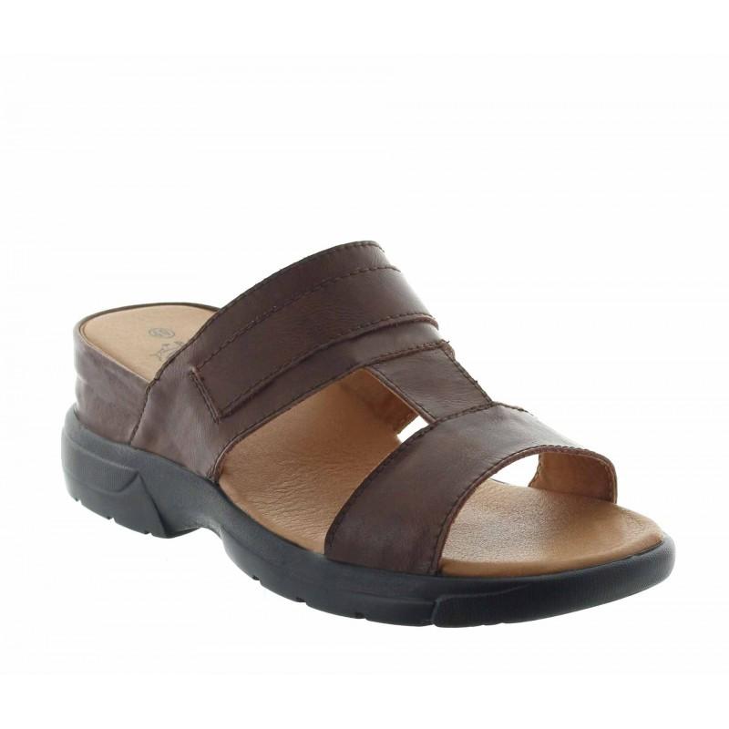 sandales compensées Homme - Marron - Cuir - +5,5 CM - Apricena - Mario Bertulli
