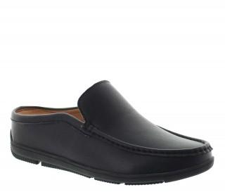 sandales compensées Homme - Noir - Cuir - +5,5 CM - Malpensa - Mario Bertulli