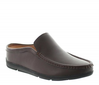 sandales compensées Homme  - Marron - Cuir - +5,5 CM - Malpensa  - Mario Bertulli