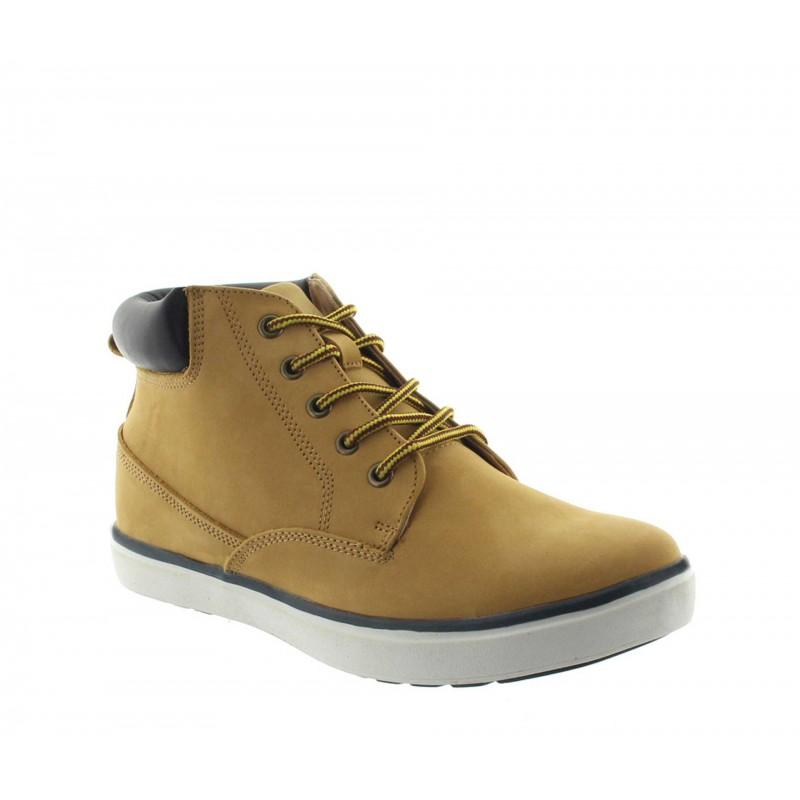 sneaker a talon compensé Homme - Cognac - Nubuck - +6 CM - Caluso - Mario Bertulli