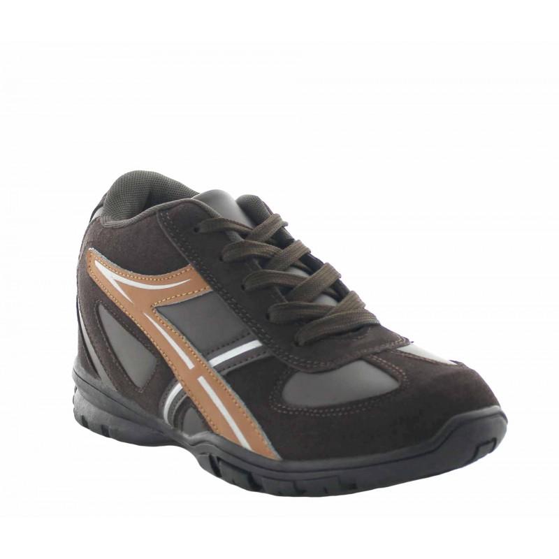 Baskets rehaussantes Piceno marron +7 cm