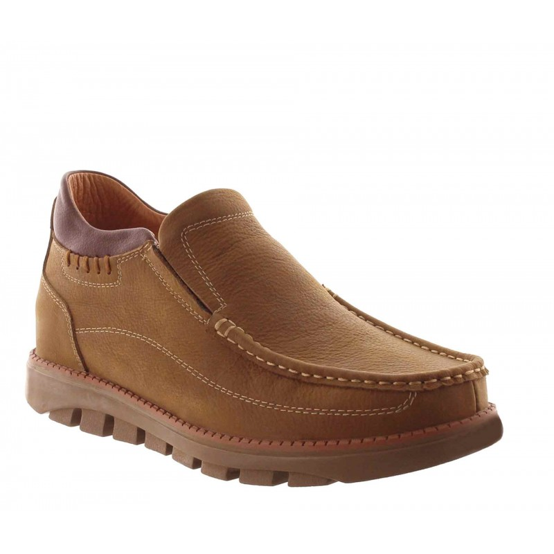 Mocassins rehaussants Lavarone camel +5.5cm