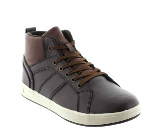 Sneakers rehaussantes Cervo marron +6cm