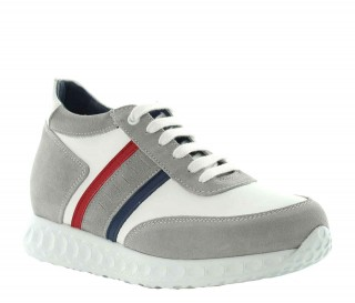 Sneakers rehaussantes femme Eva - Blanc +7cm