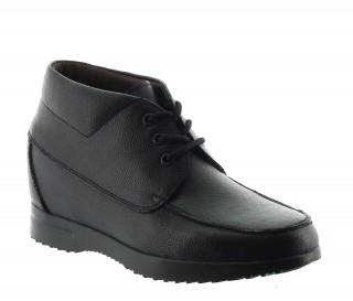 Boots rehaussantes san remo noir +6.5cm
