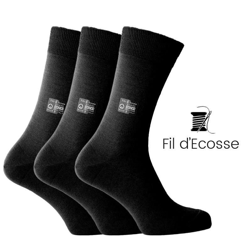 Coffret 3 paires de chaussettes - chaussettes Homme coffret - Mario Bertulli specialiste de la chaussure grandissante