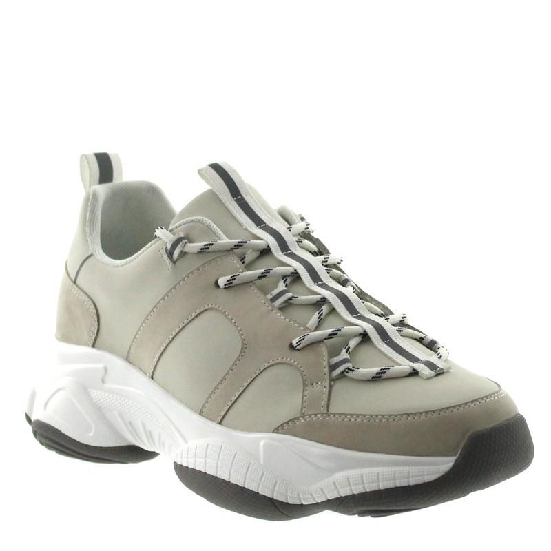 Sneakers Rehaussantes Sarzana Blanc Cassé +7cm