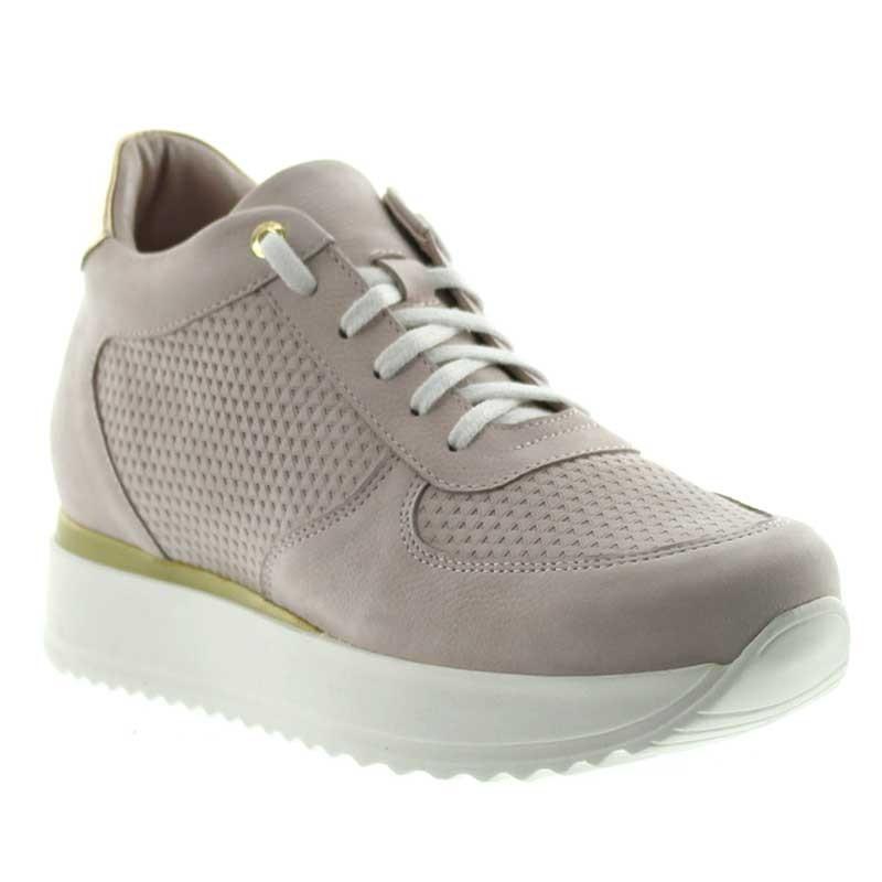 Sneakers rehaussantes femme Livia - Rose clair +7cm