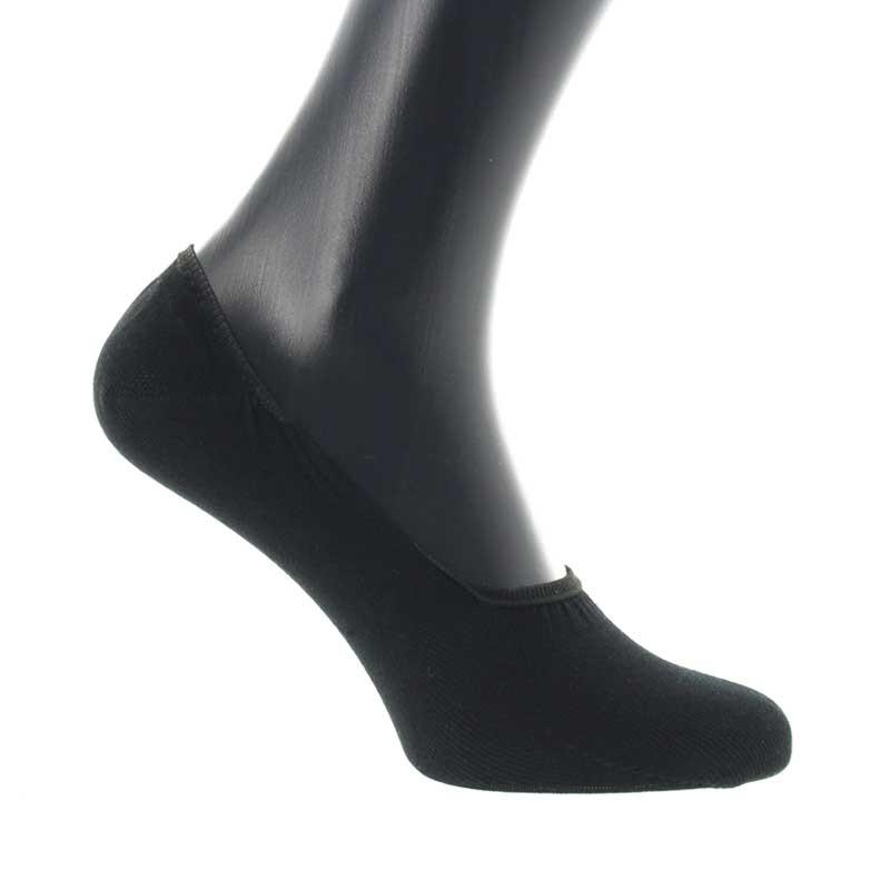 Chaussettes invisibles en fil d'Ecosse noir
