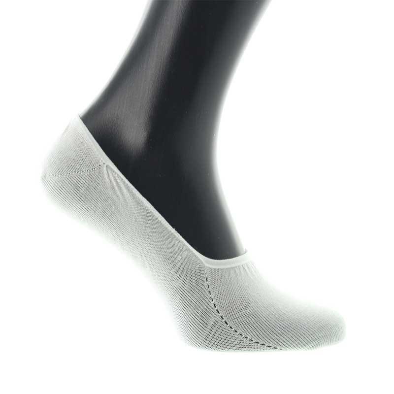 Chaussettes invisibles en fil d'Ecosse blanc