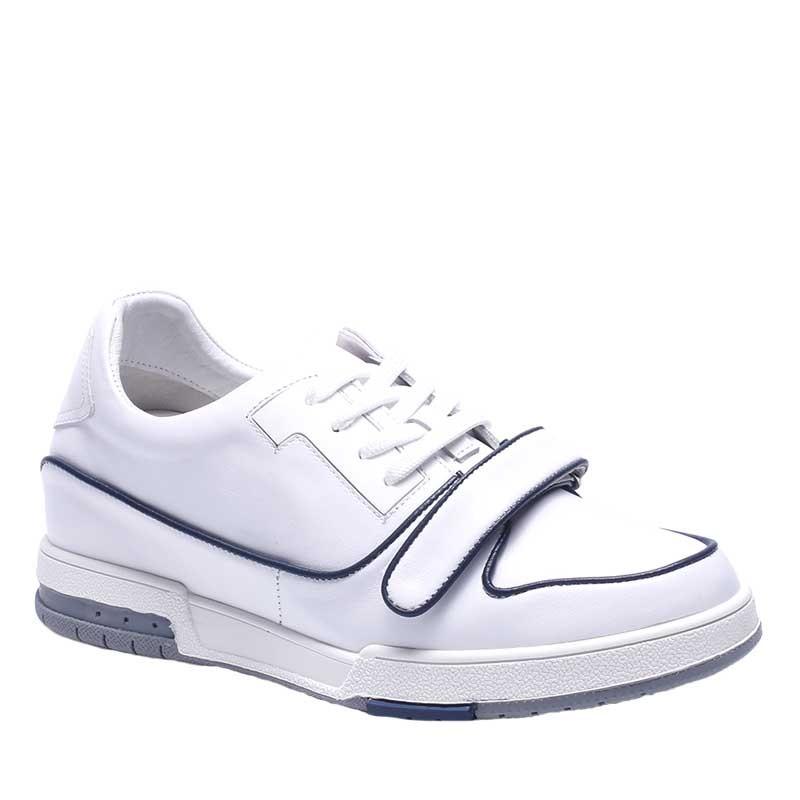 Sneakers Rehaussantes Colorina Blanc/Bleu +7cm