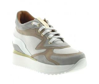 Sneakers rehaussantes femme Ornella - multicolor +7cm
