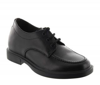 chaussures derby compensées Homme - Noir - Cuir - +6,5 CM - Dolomiti - Mario Bertulli