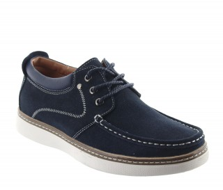 Chaussures rehaussantes Pistoia bleu +5.5cm