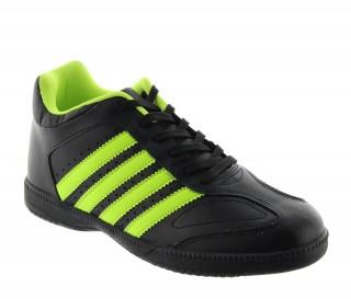 Baskets rehaussantes Vernazza noir/vert +6cm