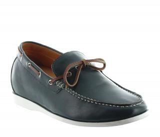 Chaussures bateau rehaussantes Arenzano vert fonce +5.5cm