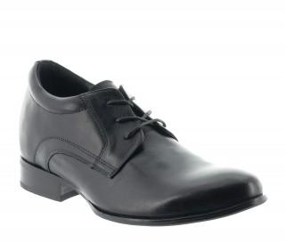 chaussures derby compensées Homme - Noir - Cuir - +7 CM - Ostana - Mario Bertulli