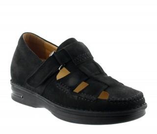 Sandales rehaussantes sellero noir +7cm