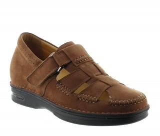 Sandales rehaussantes sellero marron +7cm