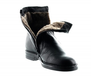 Bottines rehaussantes fourrees Isernia noir +6.5cm