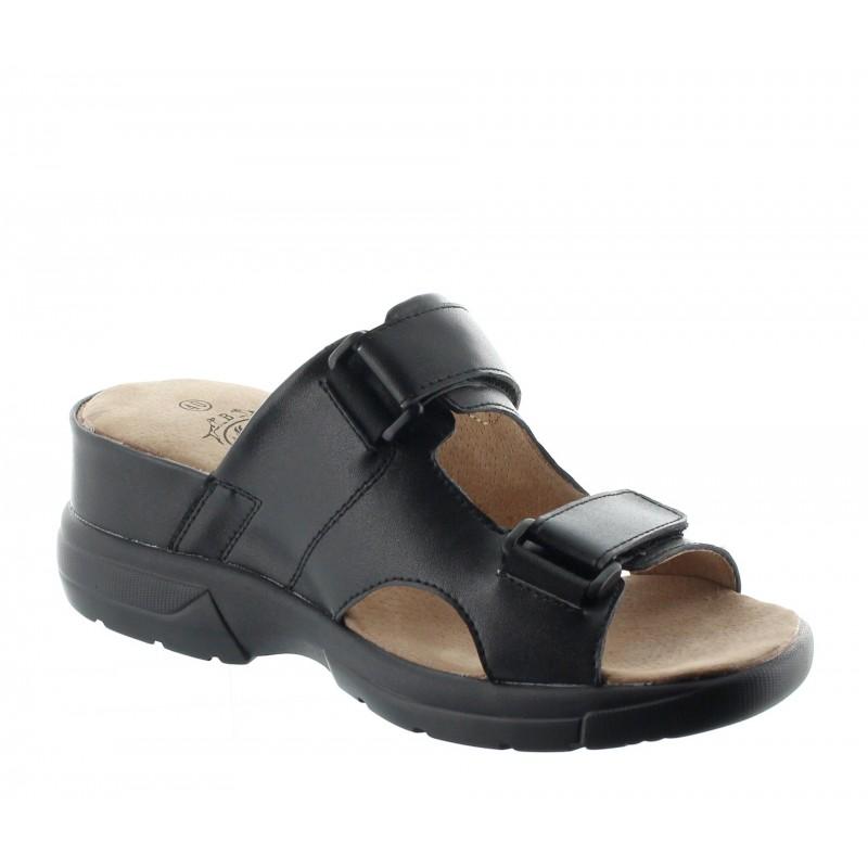 sandales compensées Homme  - Noir - Cuir - +6 CM - Stilo  - Mario Bertulli
